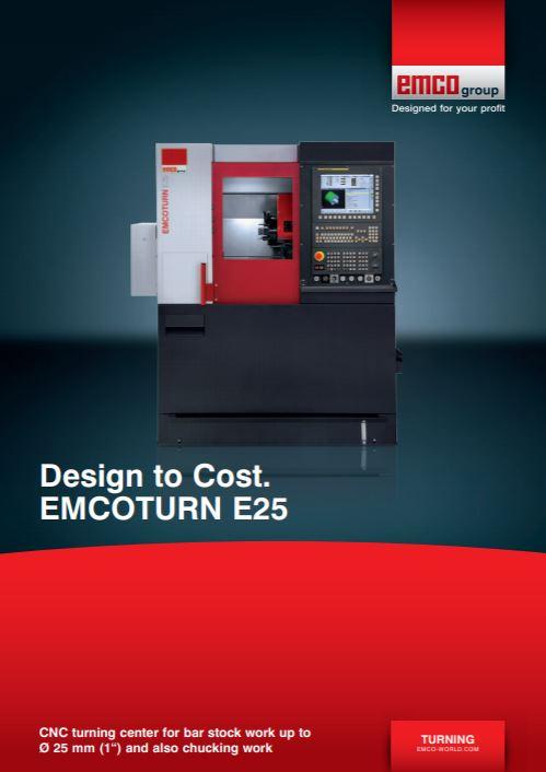 Emco's smallest turning machine brochure - Brochure