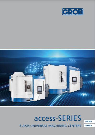 Grob universal milling machine Access range - Brochure