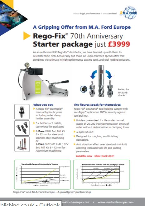 Special Rego-Fix offer from M.A. Ford Europe - Brochure