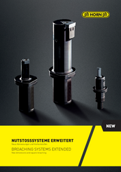 Broaching systems brochure from Horn - Brochure