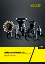 Gear machining brochure from Horn - Brochure