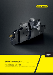 Piezo Tool System: Real-time monitoring during machining - Brochure
